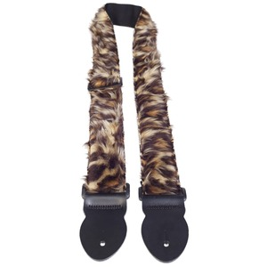 Leather Graft Fun Fur Guitar Strap