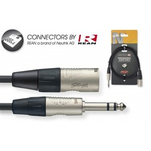 "Stagg N-Series Male XLR - Stereo 1/4"" Jack Cable"