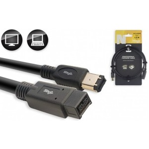 Stagg NCCXFW8FW6 N-Series Firewire 400 - Firewire 800 Cable