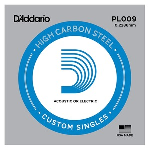 D'addario Plain Steel Single String - 5 PACK