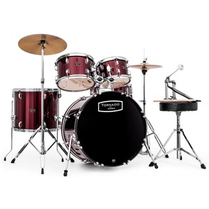 "Mapex Tornado Drum Kit - 20"" American Fusion Short Stack - Burgundy"