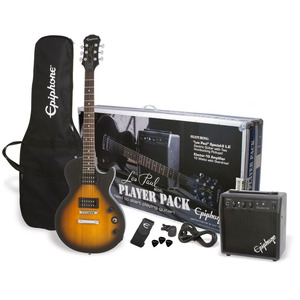 Epiphone Les Paul Player Pack Guitar Package  - Vintage Sunburst