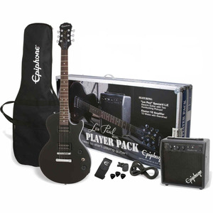Epiphone Les Paul Player Pack Guitar Package  - Ebony