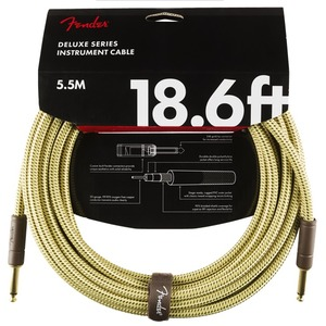Fender Deluxe Series 18.6ft  Instrument Cable - Tweed