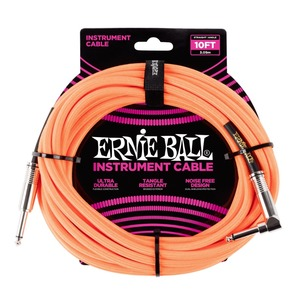 Ernie Ball Instrument Cable Black J-AJ 10 Foot