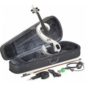 Stagg Electric Violin Kit - Electric Violin Kit - Metallic White