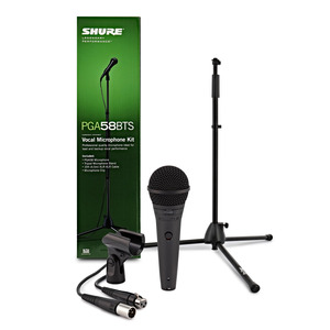 Shure PG Alta PGA58 Mic and Stand Package - XLR-XLR