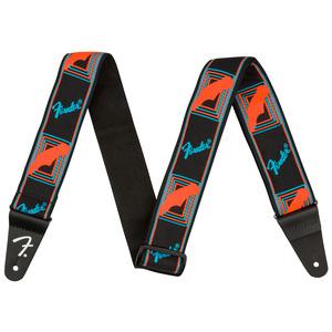 Fender Neon Monogrammed Guitar Strap - Blue / Orange