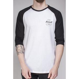 Marshall Black/White Long Sleeve Baseball Tee T-Shirt - Logo Roundel