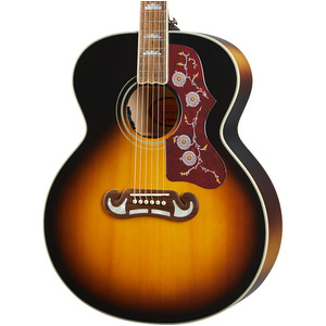 Epiphone Inspired by Gibson J-200 All-Solid Electro Acoustic - Aged Vintage Sunburst Gloss