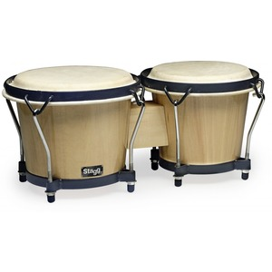 "Stagg Wood Bongo 7"" + 6"" - Natural"