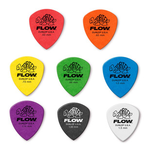 Jim Dunlop Tortex FLOW Guitar Picks 12 Pack