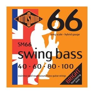 Rotosound SM66 Swing Bass Stainless Steel 40-100 Bass Strings