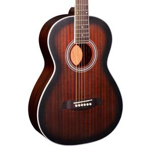 Brunswick BP200 Parlour Acoustic Guitar - Satin Tobacco Burst