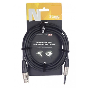 "Stagg N-Series Microphone Cable XLR - 1/4"" Mono Jack"