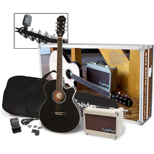 Epiphone PR4E Electro Acoustic Player Pack - Natural - Ebony