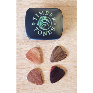 Timber Tones 4 Pack Pick Tin for Acoustic Guitar
