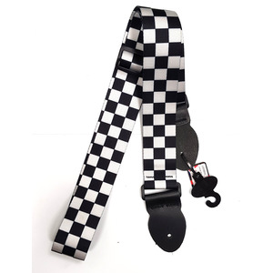 Leather Graft Graphic Series Strap - Black and White Checkerboard