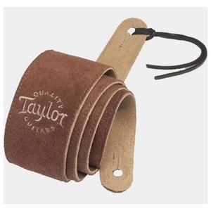 "Taylor Embroidered 2.5"" Suede Strap - Chocolate"