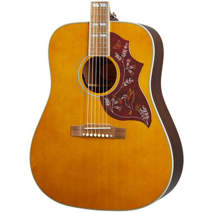 Epiphone Inspired by Gibson Hummingbird All-Solid Electro Acoustic - Aged Natural Antique Gloss