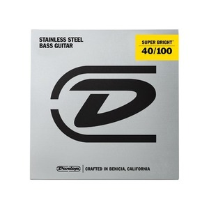Jim Dunlop Super Bright Stainless Steel Bass Strings - Light 40-100