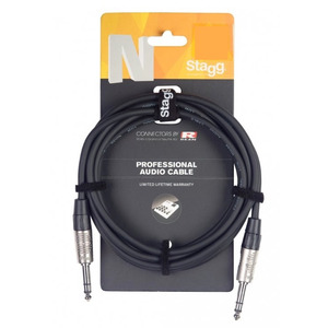"Stagg N-Series Stereo 1/4"" Jack - Stereo 1/4"" Jack Cable"
