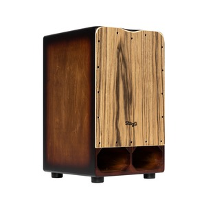 Stagg Cannon Cajon - Natural Ebony