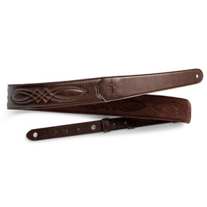 "Taylor Vegan Leather Strap - 2"" Chocolate Brown"