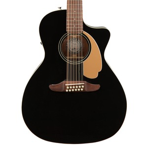 Fender Villager 12-String Electro Acoustic Guitar - Jetty Black