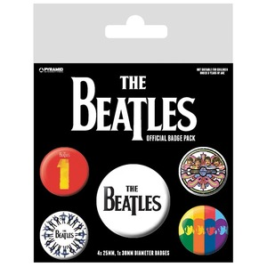 Official Beatles Badge Set - Set of 5