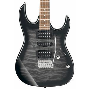 Ibanez GRX70QA Electric Guitar - Transparent Black Burst