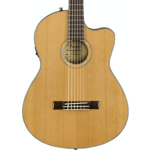 Fender CN140SCE Nylon Thinline Electro Acoustic inc Hard Case - Natural