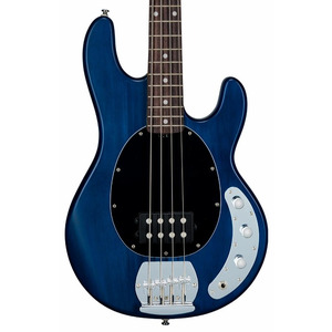 Sterling By Musicman SUB RAY4 Active Bass Guitar - Trans Blue Satin