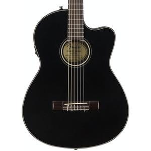 Fender CN140SCE Nylon Thinline Electro Acoustic inc Hard Case - Black