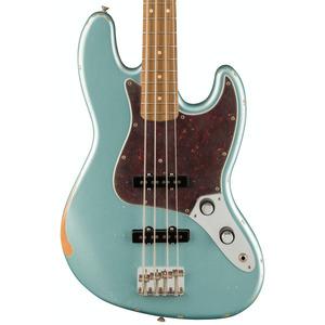 Fender Limited Edition Road Worn 60th Anniversary Jazz Bass - Firemist Silver