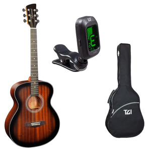 Brunswick BF200 Acoustic Guitar Package with Bag & Tuner - Tobacco Sunburst