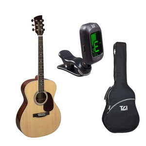 Brunswick BF200 Acoustic Guitar Package with Bag & Tuner - Natural