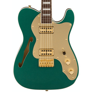 Fender Japanese Limited Super Deluxe Thinline Tele in Sherwood Green Metallic