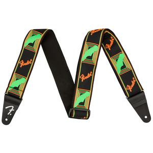 Fender Neon Monogrammed Guitar Strap - Green / Orange