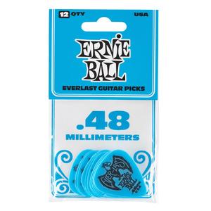 Ernie Ball Everlast Delrin Picks 12 Pack - Blue .48mm
