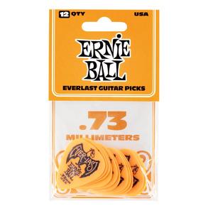 Ernie Ball Everlast Delrin Picks 12 Pack - Orange .73mm
