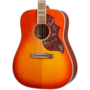Epiphone Inspired by Gibson Hummingbird All-Solid Electro Acoustic - Aged Cherry Sunburst Gloss