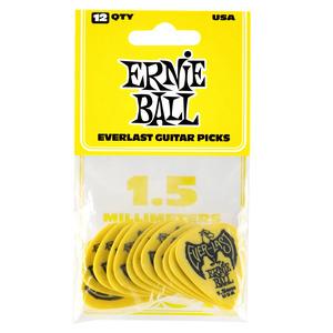 Ernie Ball Everlast Delrin Picks 12 Pack - Yellow 1.5mm