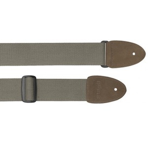 Stagg Cotton Guitar Strap With Suede Ends - Khaki Green