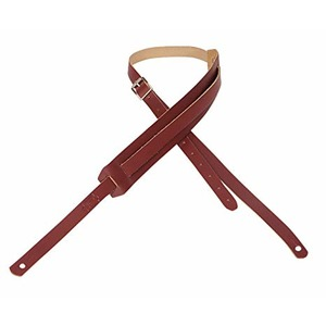 """Levy's 1 3/4"""" Leather Strap - Burgundy"""