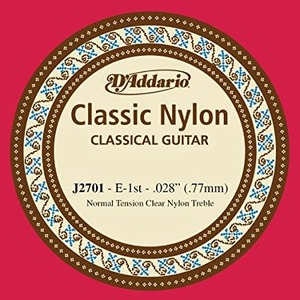 D'addario J27 Clear Nylon Treble Single Classical Strings