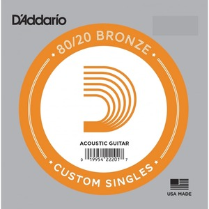 D'addario Bronze 80/20 Single String