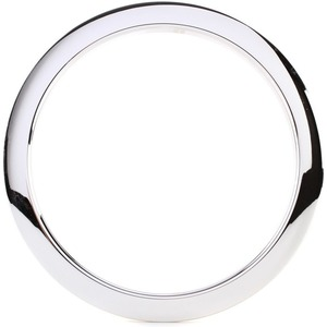 "Bass Drum O's 6"" Oval Sound Hole Ring Chrome"