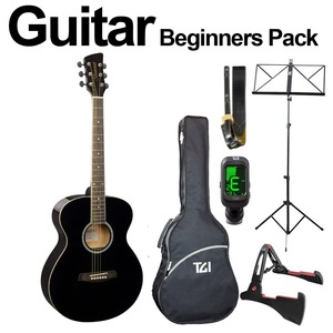Brunswick Ultimate Beginners Acoustic Guitar Package - Black