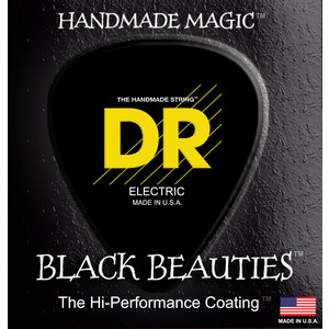 "Dr Coated Guitar Strings ""Black Beauties"" - 10-46"
